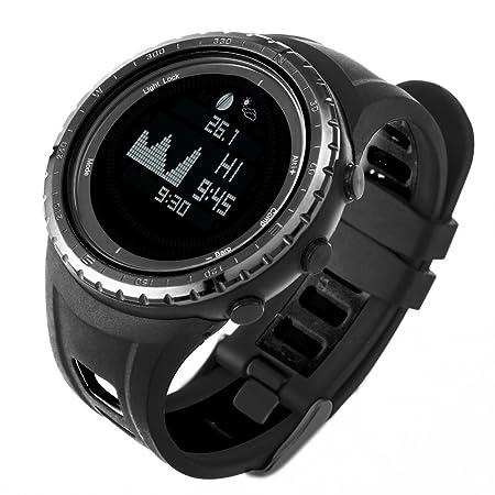 Smart Digital Pesca Deportiva reloj con marea, barómetro, altímetro, brújula, termómetro, y mucho más | mejor Reino Unido pesca y deportes al aire libre ...