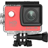SJCAM SJ4000 Full HD Aksiyon Kamerası - Kırmızı