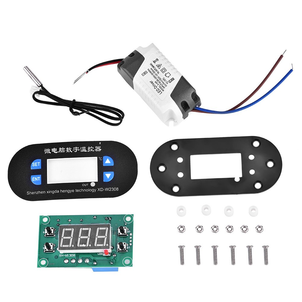 220V Blue High Accuracy Microcomputer Digital Controller -55 To 120 Degree Adjustable Temperature Controller Thermostat With Sensor