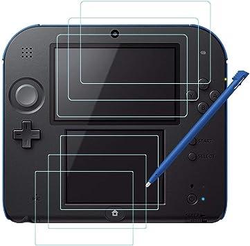 AFUNTA Protectores de Pantalla y Punteros Stylus para Nintendo 2DS ...
