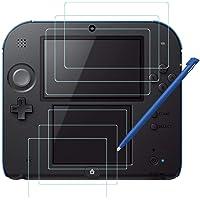 AFUNTA Haz Clic para Obtener una Vista ampliada Protectores de Pantalla para Nintendo 2DS y Stylus, 3 Pack (6 Piezas) Película de Pet HD para Pantalla Superior e Inferior, con 1 Plástico Touch Pen
