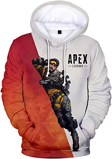 Apex Legends Pullover Classic Leisure Hooded Sweatshirt Comfortable Sweater Printed Hooded Pullover Unisex