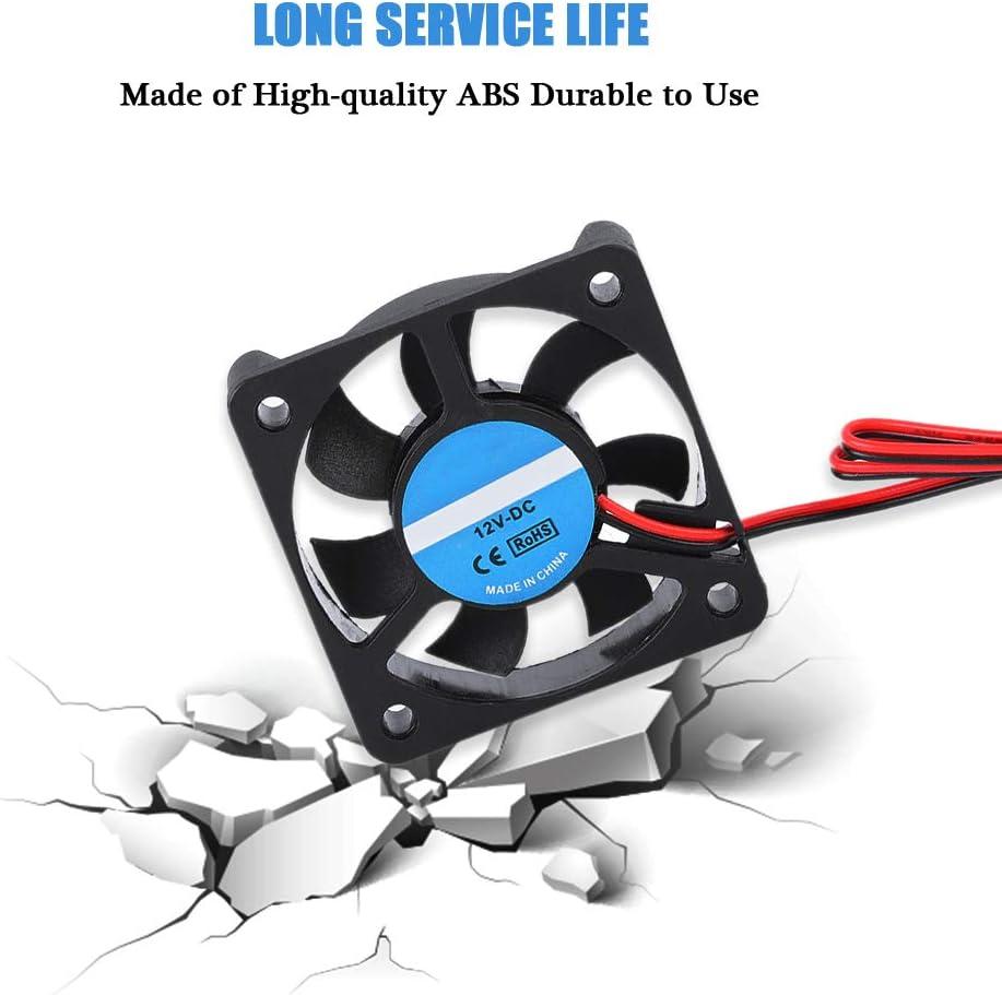 Tosuny 2Pcs 3D Printer Cooling Fan Accessory Part DIY 5010 Cooling Fan 2Pin 12V 4000-6500 RPM 30dB 8-14CFM