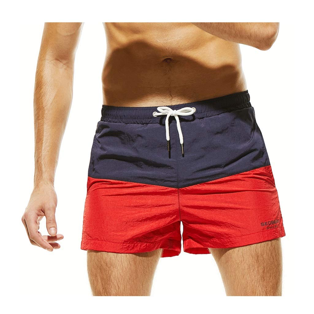 IJUGIU Men's Beach Shorts Men's Shorts Surfing Breathable Waterproof Sports Leisure Home (Color : 3, Size : M) by IJUGIU
