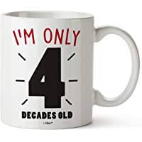 40th Birthday Gifts For Women Forty Years Old Men Gift Mugs Happy Funny 40 Mens Womens Womans Wifes Female Man Best…