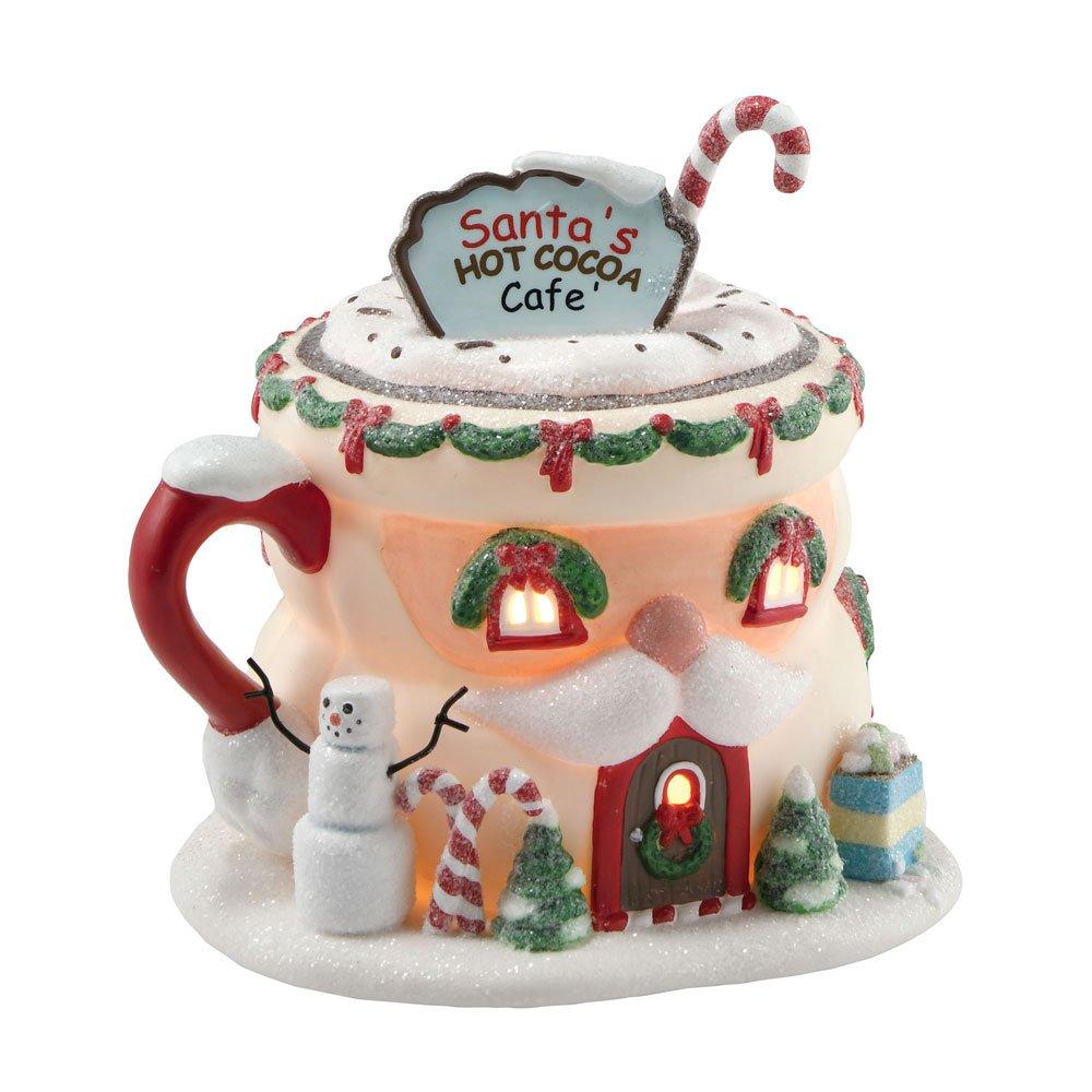 Department 56 North Pole Village Santa's Hot Cocoa Café Lit House by Department 56