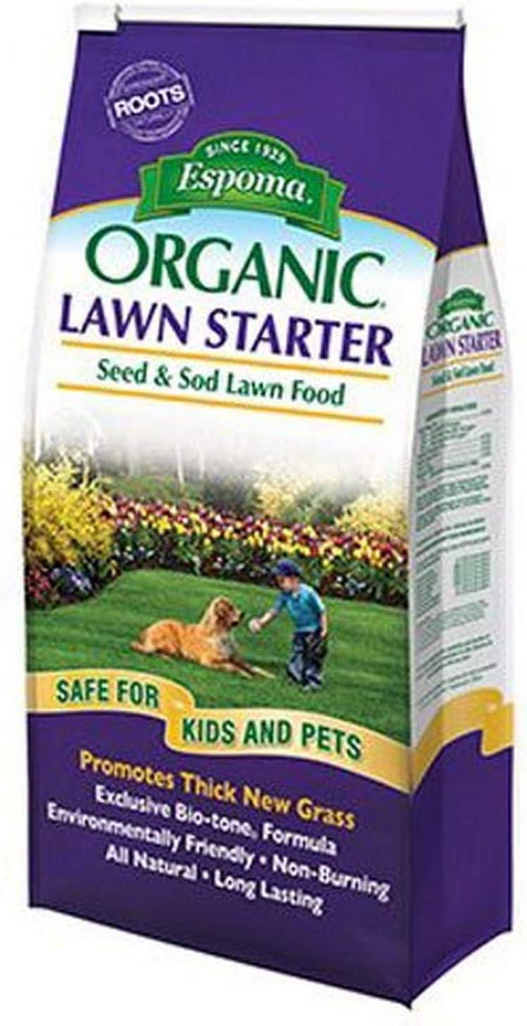 Espoma LS7 050197059077 Organic Lawn Starter Seed and Sod Food Fertilizer, 7.25 lb, N