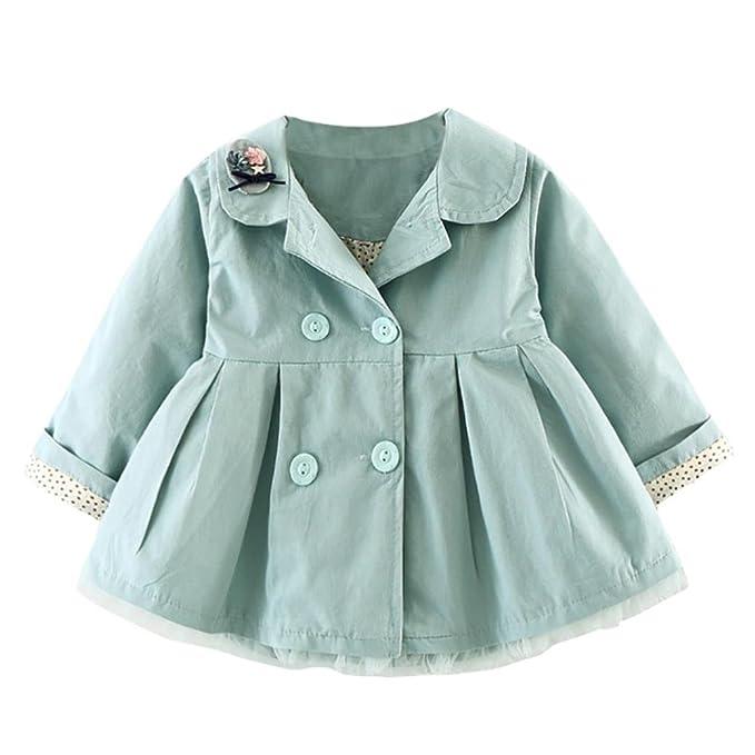 Amazon.com: konfa bebé niñas elegante, con solapa Coat ...