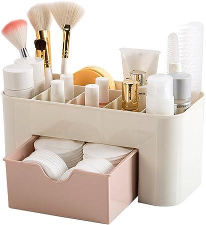 YOLO - Estuche de maquillaje para mujer, organizador de cosméticos, cajón, perfume, joyería, bandejas de tocador: Amazon.es: Hogar