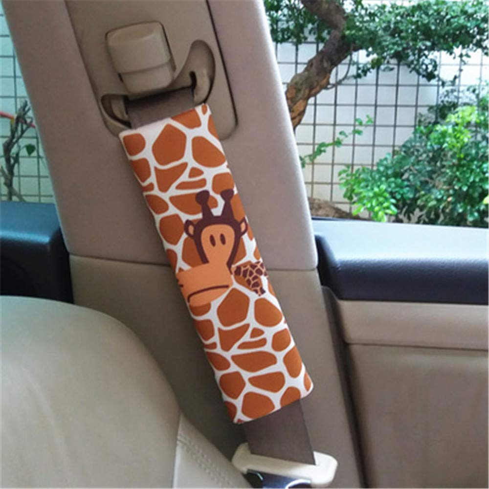 Auto Sicherheits Autositz Schulterschutz Schulterpolster Schulterkissen Giraffe 2 St/ück Gurtpolster f/ür Kinder