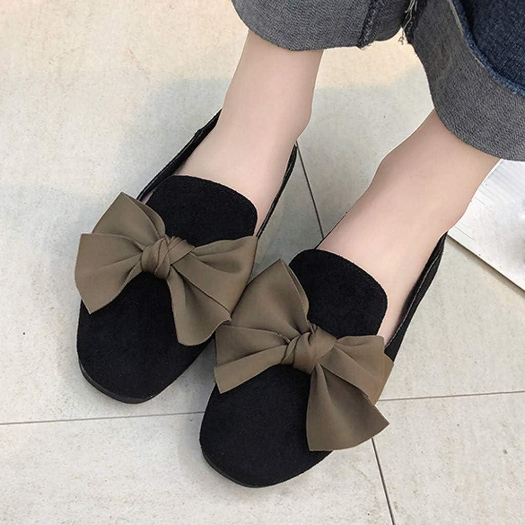 Ballerine Plates en Daim Femme,Overdose Confortable Chaussures Plates Slip on Mocassins Loafers Chaussures de Marche