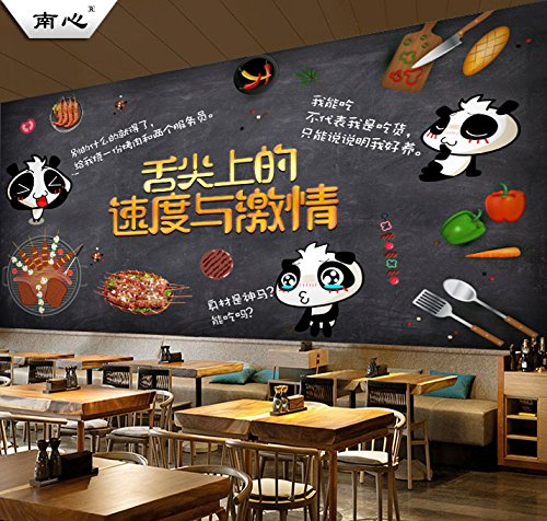 Poowef 3D Wallpaper Papel Tapiz Restaurante Graffiti Retro ...