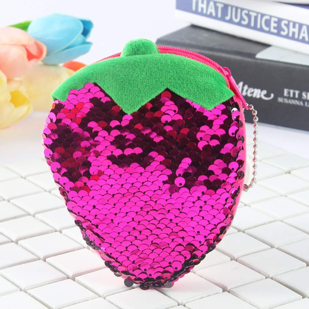 1 monedero de lentejuelas con purpurina para cambiar el dinero en efectivo, con cremallera, pequeño monedero para mujeres y niñas regalo 12x10cm ...