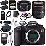 Canon EOS 5DS 5D S DSLR Camera + EF 24-70mm f/4L IS USM Lens + Canon EF 50mm f/1.8 STM Lens + LPE-6 Lithium Ion Battery + Canon 100ES EOS shoulder bag Bundle 11