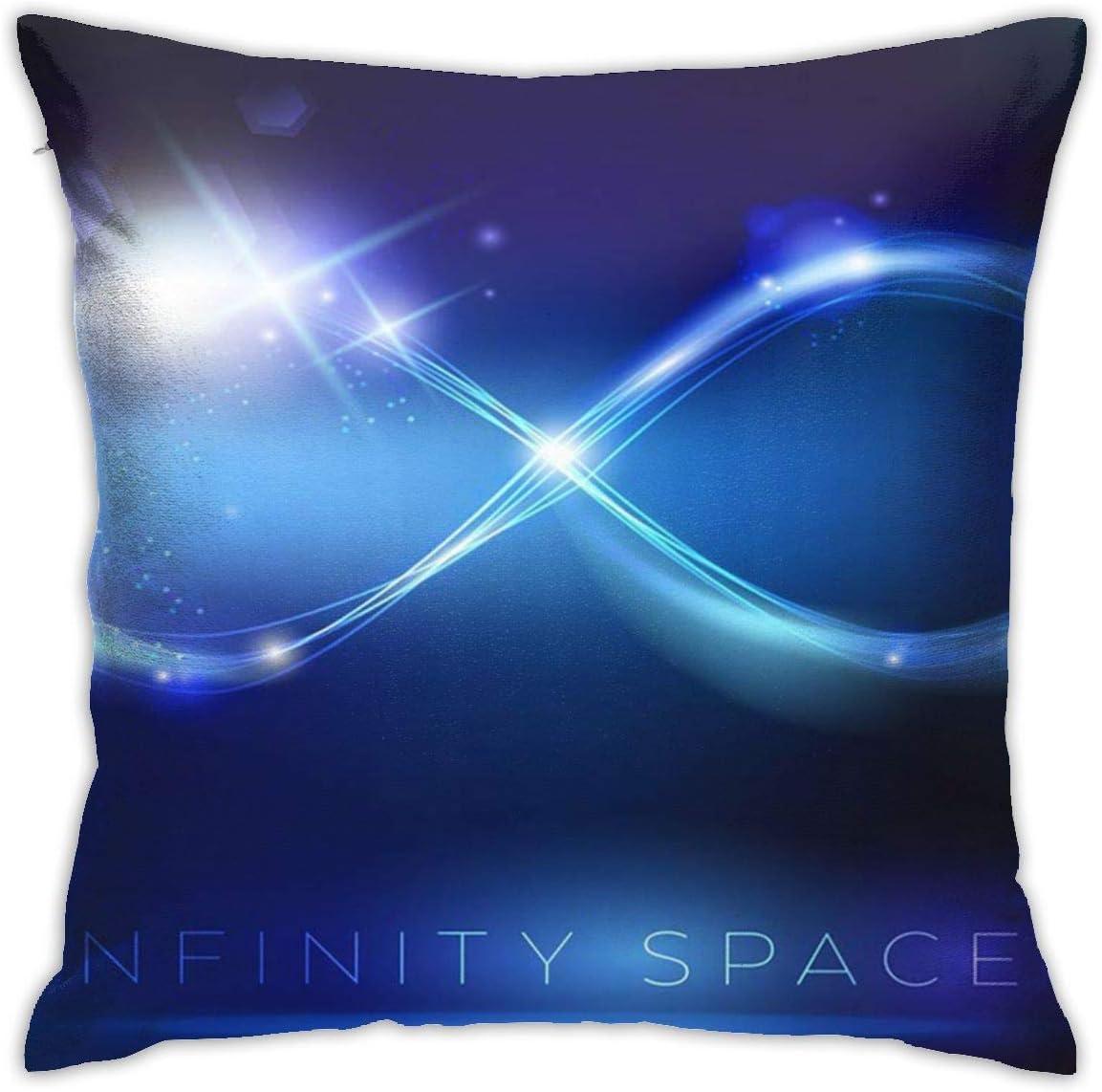 Zhgrong Fiction Glow Blue Light Infinity Symbol Energy Dark Fundas de Almohada estándar Fundas de Cojines de poliéster amigables para la Piel y el Cabello