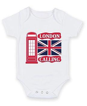 5a3f876013df London Phone Box   Union Jack - Baby Grow Vest Bodysuit (3-6 months ...