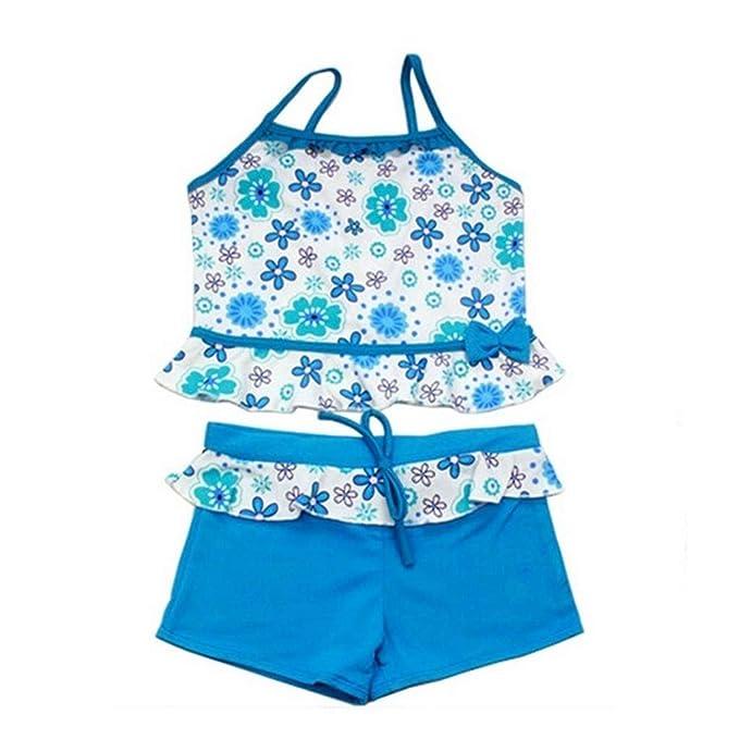 Toddler Kids Girl Swimwear Floral Bikini Swimsuit Bathing Suit Beachwear Costume