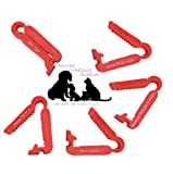 10 NEW MINI Reusable Umbilical Cord Clamps 38mm in Length Puppy Kitten Whelping
