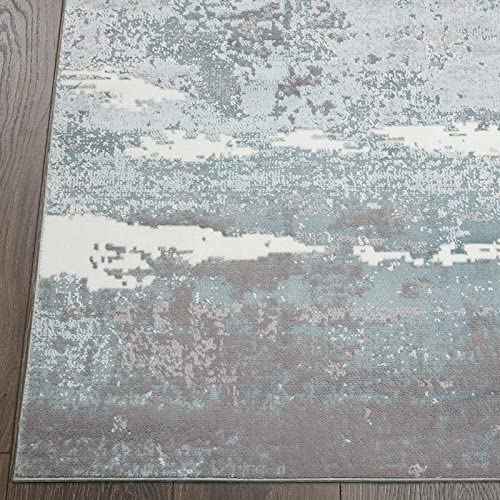 Home Dynamix Christian Siriano New York Brooksville Langley Modern Abstract Area Rug 7 9 x10 2 , Blue
