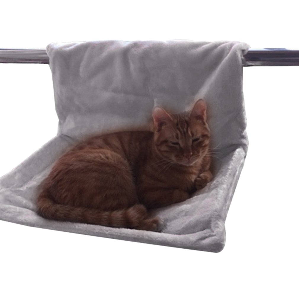 Yuncai Confortable Gatos Cama Colgante Colgar Radiador Gato Hamaca Cama Gris: Amazon.es: Hogar