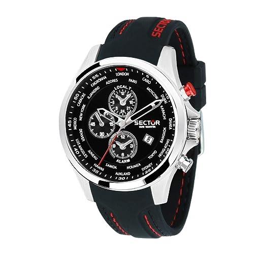 Amazon.com: Reloj de cuarzo y silicona para hombre, de acero ...