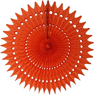 product image for 3-Pack 21 Inch Tissue Paper Fan Decoration (Orange)
