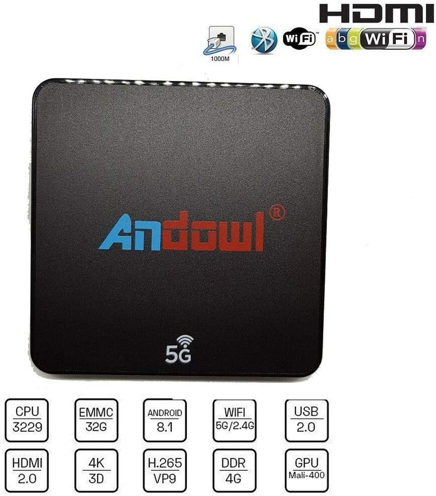 Smart TV Box Android 8.1 4 GB RAM 32 GB ROM Wifi andowl IPTV 4K HD ...