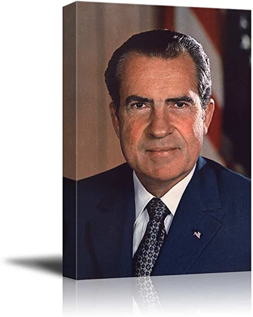 Richard Nixon 8x10 photo US president peace sign picture