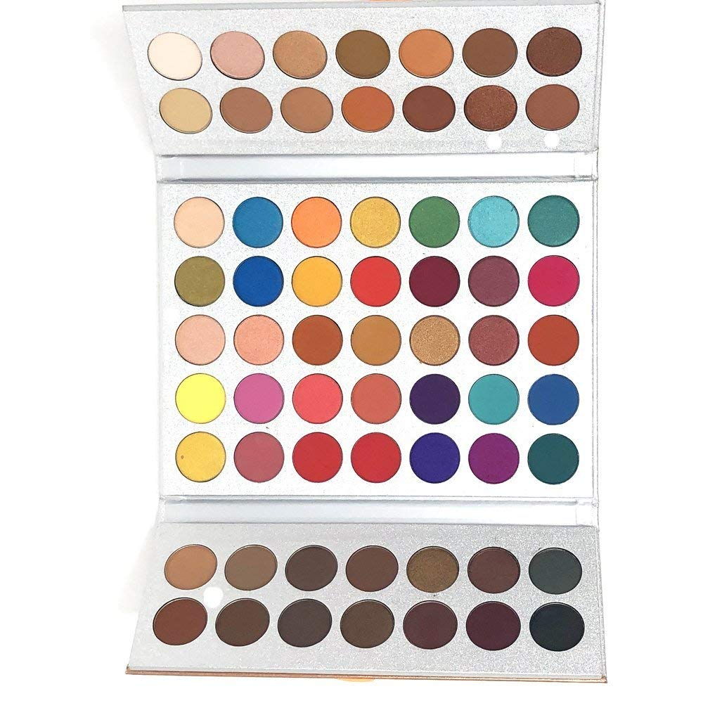 Beauty Glazed Make Up Palettes 63 Shades Eyeshadow Pigmented Matte Colors Long Stay On Soft and Smooth + Powder Sponge Blender + Make Up Brushes Set by Beauty Glazed (Image #5)