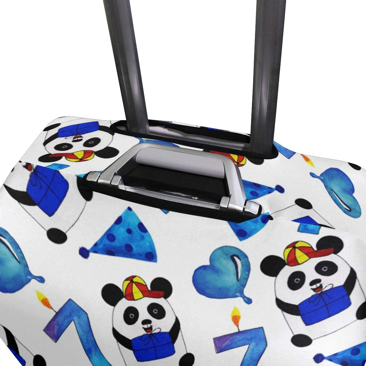 FOLPPLY Watercolor Cute Panda Pattern Luggage Cover Baggage Suitcase Travel Protector Fit for 18-32 Inch