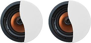 """Klipsch CDT-5800-C II 8"""" In-Ceiling Pivoting Speakers - Pair (White)"""