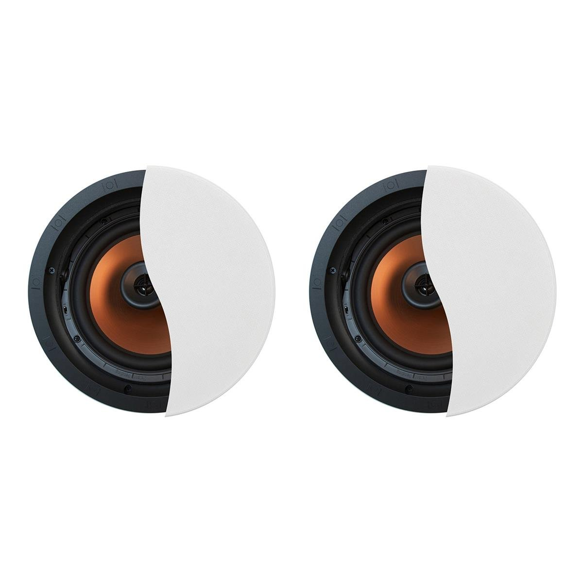 Klipsch CDT-5800-C II 8'' In-Ceiling Pivoting Speakers - Pair (White) by Klipsch