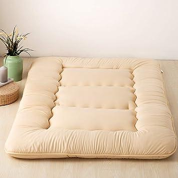 ASDFGH Tradicional Suelo Japon Colchones de futon, Espesar Colchón Tatami Sleeping Pad Cubierta extraíble Lavable Estudiante Futon colchón-Beige Completo: ...