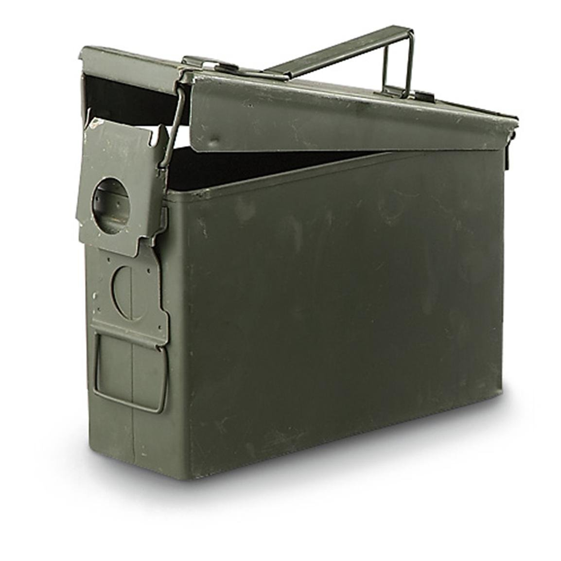 Military Outdoor Clothing Previously Issued U.S. G.I. 30-Caliber M19A1 Ammo Box