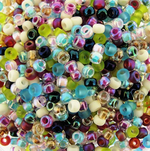 Miyuki Round Seed Beads Size 8/0 22g Spring Flowers Mix