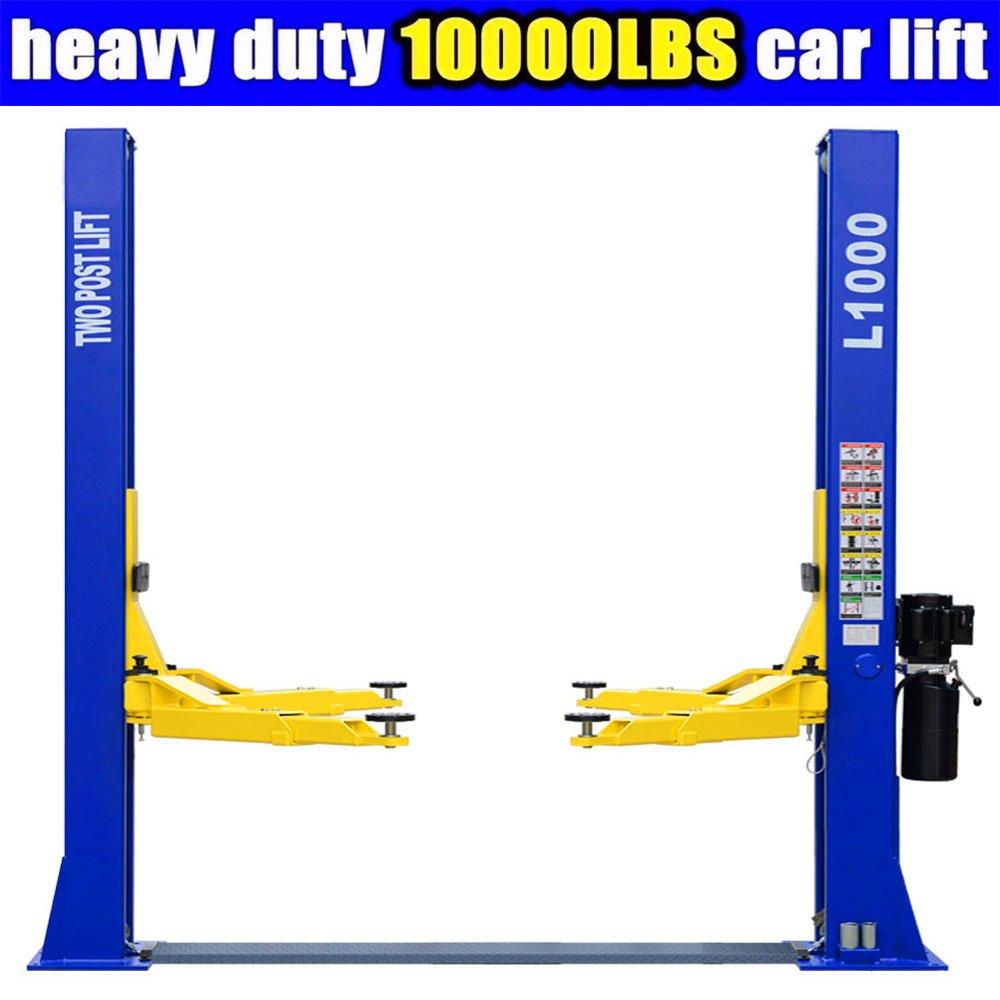 L1000 Car Lift 10,000 LB 2 Post Lift Car Auto Truck Hoist w/ 12 Month Warranty 220V