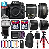 Holiday Saving Bundle for D7500 DSLR Camera + 35mm 1.8G DX Lens + AF-P 18-55mm + Flash with LCD Display + 6PC Graduated Color Filter + 2yr Extended Warranty + 32GB Class 10 - International Version