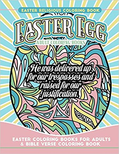 Amazon.com: Easter Religious Coloring Book Easter Egg Adult ...