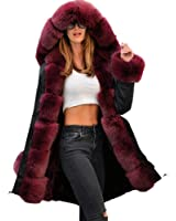 roiii frauen winter pullover mantel pelz parka casual. Black Bedroom Furniture Sets. Home Design Ideas