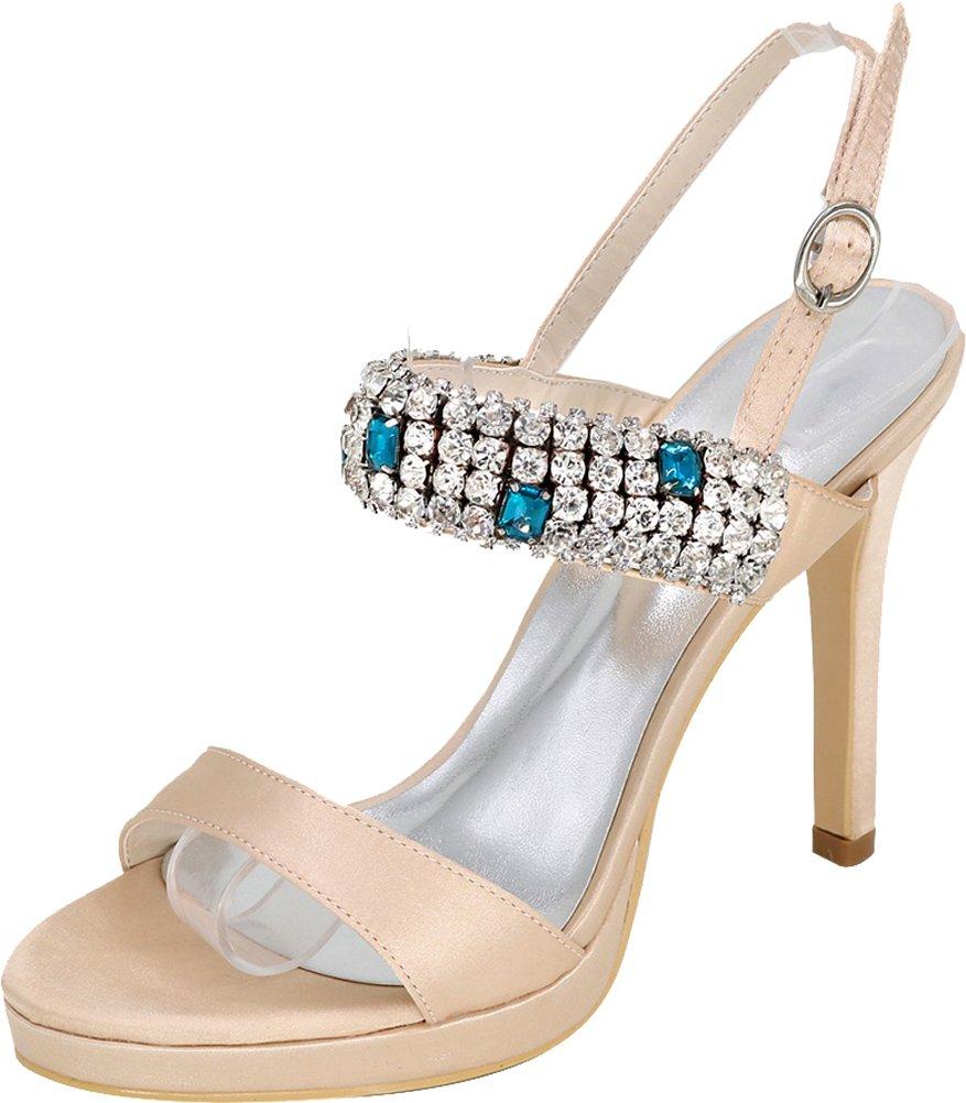 Vimedea Womens Sexy Stiletto Sandals Wedding Bride Party Dress Open Toe 5915-34 B07DHG2YB7 6 B(M) US|Champagne
