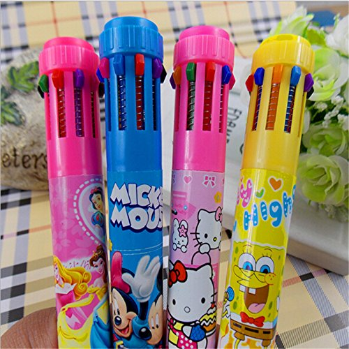 Jiada 10 Colour Ballpoint Pen Set Birthday Return Gift With Favorite Cartoon Characters Amazonin Office Products