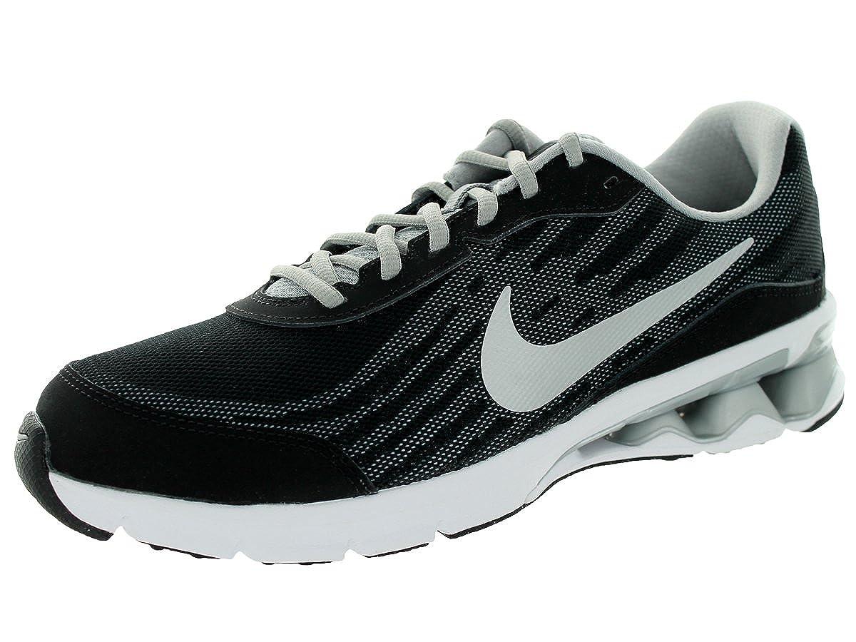 Buy Nike Men S Reax Run 9 Running Shoe Black Mtllc Slvr Drk Gry