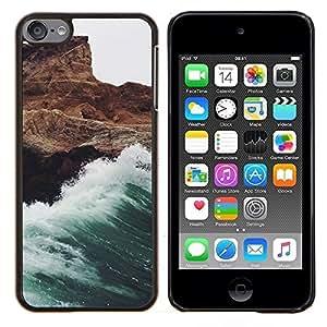LECELL--Funda protectora / Cubierta / Piel For Apple iPod Touch 6 6th Touch6 -- Ola blanca espuma de las rocas del acantilado --