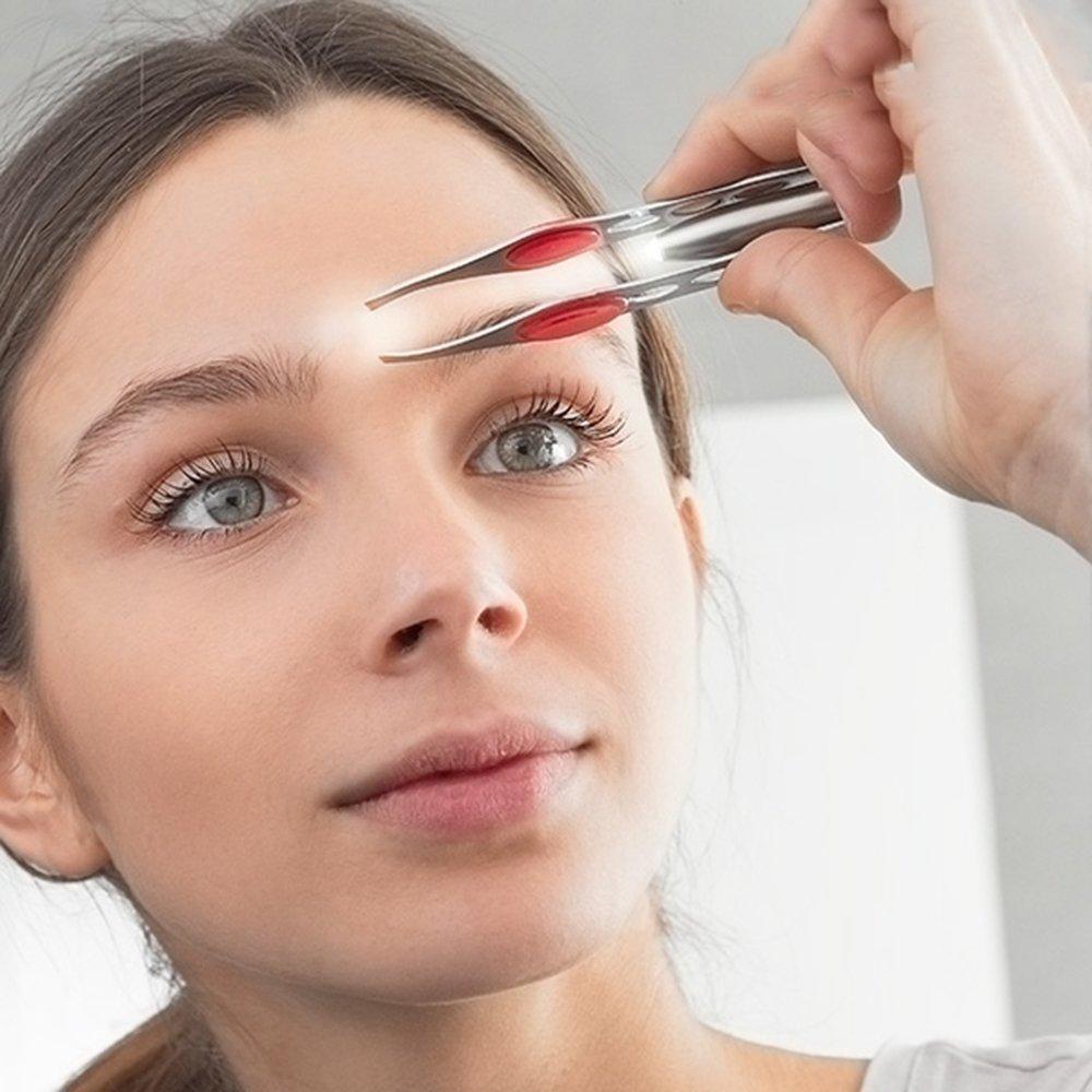 Pinzas depilar profesionales con LUZ LED.Ideales para quitar los pelos de la nariz orejas cejas y barba u otras partes del cuerpo LAS COSAS QUE IMPORTAN