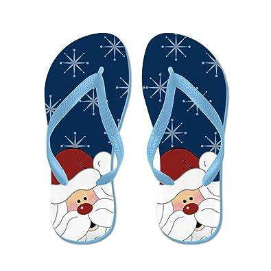 53049b03ea6c CafePress - Santa Claus Holiday Christmas Flip Flops (Navy) - Flip Flops