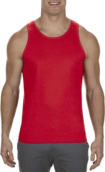 Marky G Apparel Adulto para Hombre 6.0 oz Camiseta de Tirantes 100% algodón - Rojo - Small: Amazon.es: Ropa y accesorios
