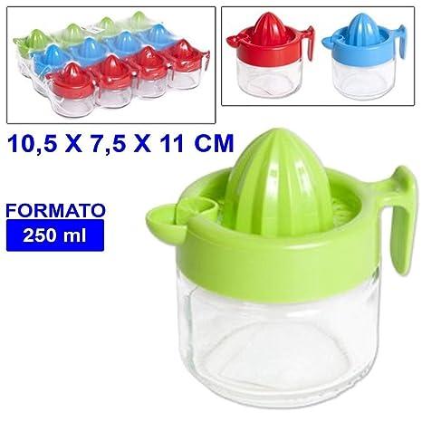 TrAdE shop Traesio® Exprimidor de Limón Exprimidor Exprimidor de Limón Naranja con recipiente de cristal