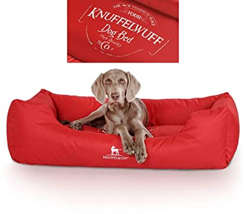 Knuffelwuff 13974 – 004 Resistente al Agua bedruckes Cama para Perros, Perro Almohada, sofá