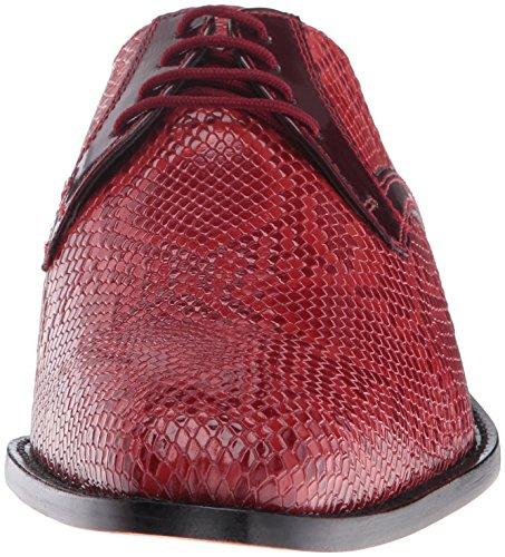 Stacy Adams Mens Rinaldi Lädersula Plain Toe Oxford Red