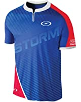 Storm Mens Performance Trigger Jersey- Blue/Red/White (XX-Large, Blue/Red/White)